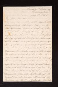 Letter from Mary Otis Spafford to Sarah Montague Moody Preston (Mrs. Calvin Preston), mother, July 27, 1886