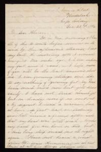 Letter from Mary Otis Spafford to Alice Preston, sister, December 22, 1886