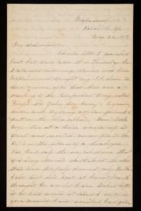 Letter from Mary Otis Spafford to Alice Preston, sister, May 26, 1887