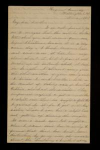 Letter from Mary Otis Spafford to brother, November 6, 1887