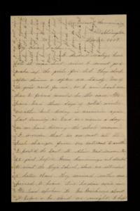 Letter from Mary Otis Spafford to Calvin Preston, father, December 4, 1887