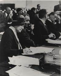 Mary E. Woolley at the Conference on Reduction and Limitation of Armaments, Geneva 1932