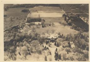 Aerial view of Skinner residence in South Hadley, Massachusetts