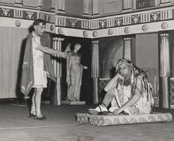 President Roswell G. Ham and faculty member Paul Saintonge acting in 'Odysseus', the 1952 Faculty Show