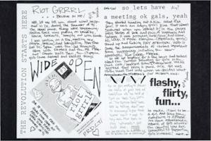 Zine from the summer of 1991, from the Margaret Rooks zine material