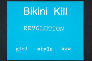 Bikini Kill Revolution, publicity for an intercollegiate conference, Undue Process: the Legacy of Japanese American Internment, held at Yale University, from Margaret Rooks zine materials