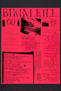 Bikini Kill, publicity for a punk rock show in Washington, DC, from Margaret Rooks '96 zine materials