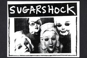 Sugarshock, publicity for Riot Grrrl event, from the Margaret Rooks '96 zine materials