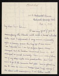 Letter from Grace H. Knapp '93 to Anna C. Edwards '59; written in Colorado Springs, Colorado