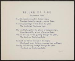 Pillar of Fire, by Grace H. Knapp, Class of 1893