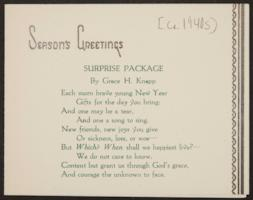 Surprise Package, by Grace H. Knapp, Class of 1893