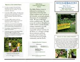 Mount Holyoke College Garden informational brochure