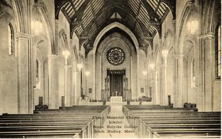Abbey Memorial Chapel--Post Card