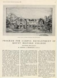 Program for Campus Development of Mount Holyoke College