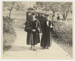 Frances Perkins and Mary Emma Woolley on Founders Day, Nov. 8, 1934