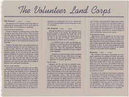 The Volunteer Land Corps pamphlet