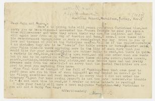 Letter from Mary I. Ward to Ruth and Laura - November 9, 1925