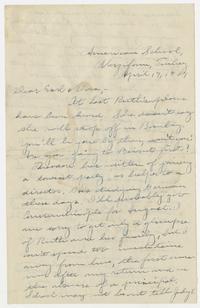 Letter from Mary I. Ward to Earl and Dora - April 17, 1929