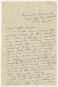 Letter from Mary I. Ward to Ruth and Laura - June 28, 1931