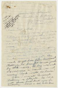 Letter from Mary I. Ward to Earl and Dora - June 28, 1931