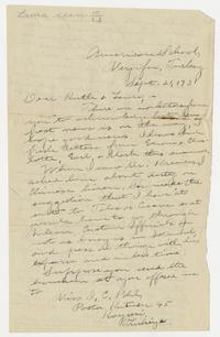 Letter from Mary I. Ward to Ruth and Laura - September 21, 1931