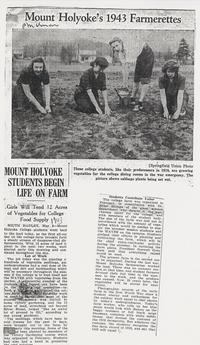 Mount Holyoke Students Begin Life on Farm, May 8, 1943