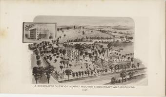 A Bird's-Eye View of Mount Holyoke Seminary and Grounds