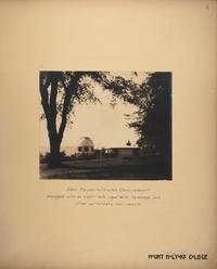 Mount Holyoke View Book, John Payson Williston Observatory