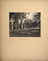 Mount Holyoke View Book, Field Memorial Gateway seen from inside the campus