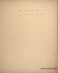Mount Holyoke View Book, title page