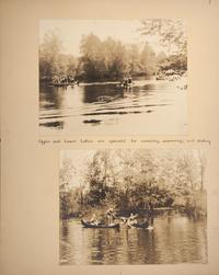 Mount Holyoke View Book, students canoeing on Upper and Lower Lakes