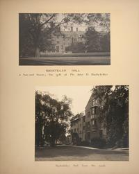 Mount Holyoke View Book, Rockefeller Hall seen from College Street and from the south end of campus