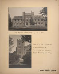 Mount Holyoke View Book, the Physics Laboratory (Shattuck Hall) and Cornelia Clapp Laboratory