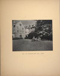 Mount Holyoke View Book, tea on Rockefeller Hall lawn