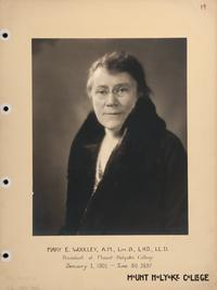 Mount Holyoke View Book, President Mary E. Woolley