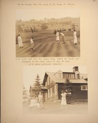 Mount Holyoke View Book, scenes at the Orchards Golf Club