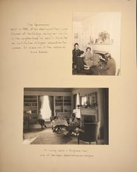 Mount Holyoke View Book, living rooms in The Sycamores and Brigham Hall