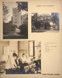 Mount Holyoke View Book, Cornelia Clapp Laboratory, exterior and interior views