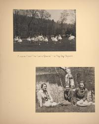 "Mount Holyoke View Book, scene from ""The Faerie Queene,"" a May Day Pageant"