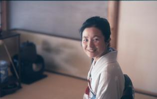Nobue Yamashita, Tea Mistress of the Wa-Shin-An, traditional Japanese tea house and meditation garden in Eliot House