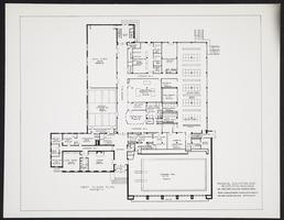 First floor plan for Physical Education and Recreation Building (Kendall Hall)