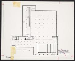 Basement floor plan for the Physical Education and Recreation Building (Kendall Hall)