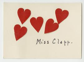 Valentine's Day card belonging to Cornelia Clapp