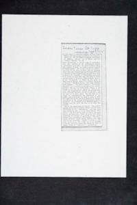 "Photocopy of item from literature supplement of ""The London Times"" mentioning Professor Charlotte D'Evelyn"