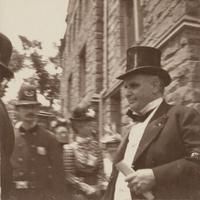 President McKinley's visit to Mount Holyoke College (guards on the left)