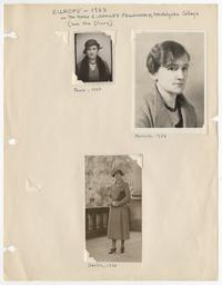 Dorothy Blair in Paris, Munich, and Berlin, when she traveled in Europe on the Mary E. Woolley Fellowship