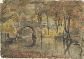 Old Stone Arch; watercolor painting by Helen F. Newton, Class of 1900