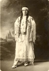 Portrait of Ruth Muskrat in Cherokee Indian attire