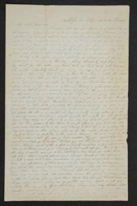 "Letter from Mary C. Weaver (x1845) to John Weaver, including a page from Jerusha Babcock (x1845) to ""Friends of My Dear Mary"""