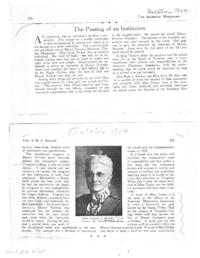"Article from ""The American Missionary"" and related articles about Mount Hermon Female Seminary and its founder, Sarah A. Dickey, Class of 1869"